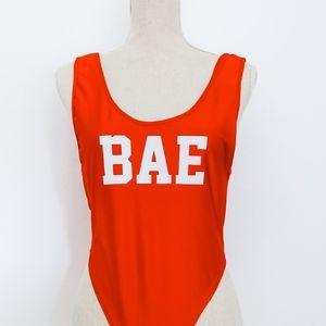 Bae Bodysuit - Red - Fashion Nova